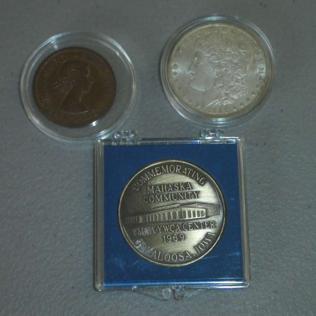 Lot # 36 - 1884-O US Mint - Morgan Silver Dollar and Misc. Collectible Coins (main image)