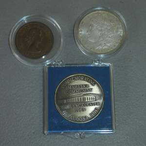 Lot # 36 - 1884-O US Mint - Morgan Silver Dollar and Misc. Collectible Coins