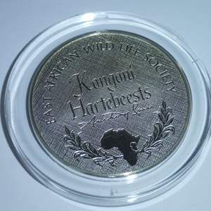Lot # 38 -Franklin Mint - East African Wild Life Society Kongoni Hartebeests 2 oz Sterling Coin - Anthony Jones