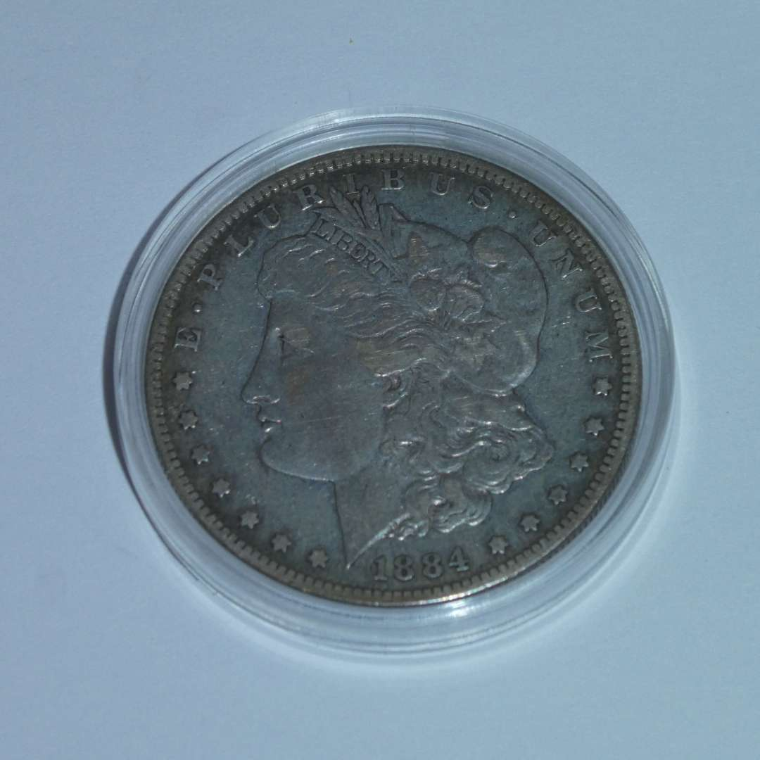 Lot # 39 - 1884-S US Mint - Morgan Silver Dollar - Very Rare (main image)