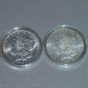 Lot # 41 -1885 and 1885-O Morgan Silver Dollars