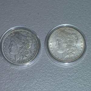 Lot # 42 -1886 and 1886-O Morgan Silver Dollars