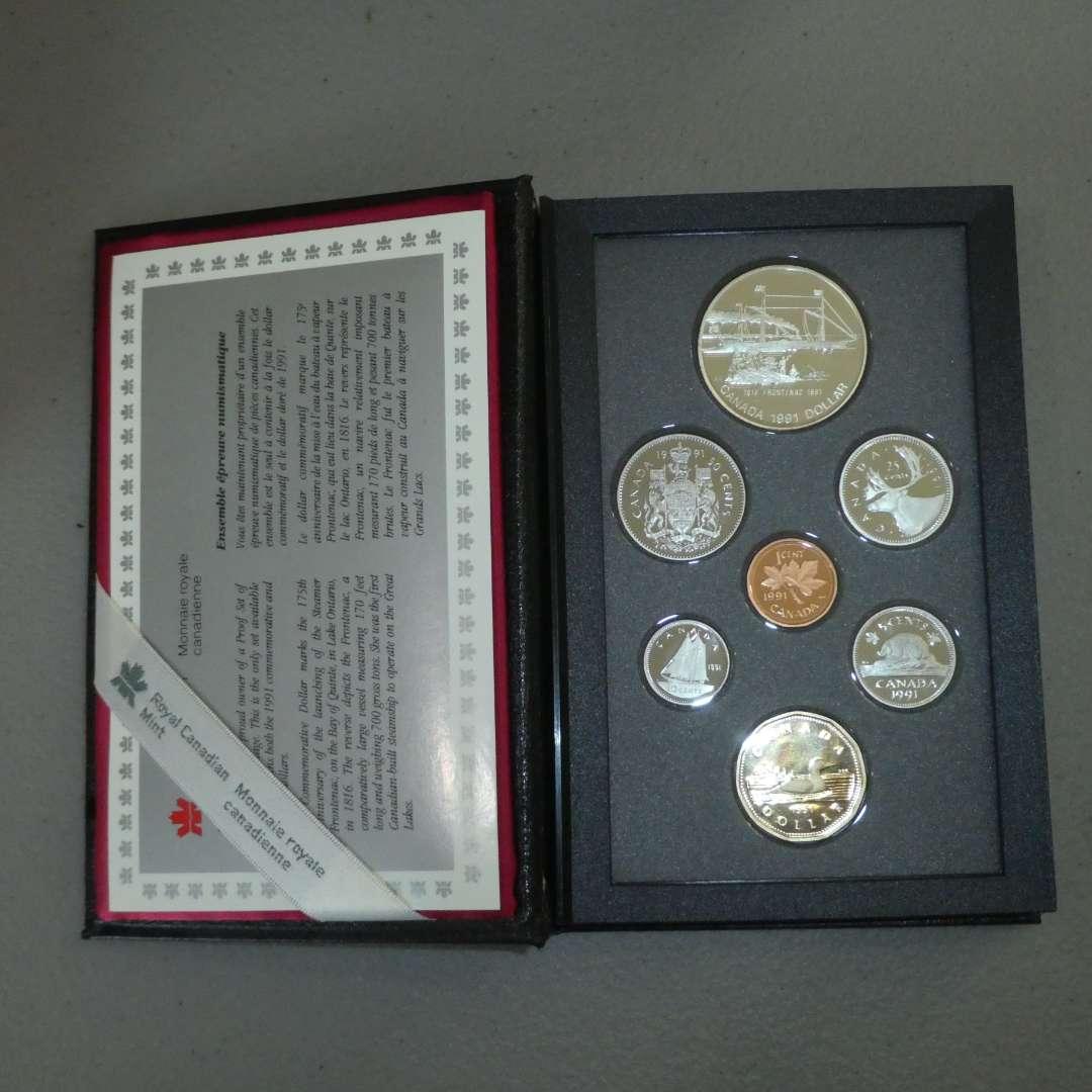 Lot # 43 -1991 - Royal Canadian Mint - 7 pc Proof Set w/ Silver Dollar (main image)