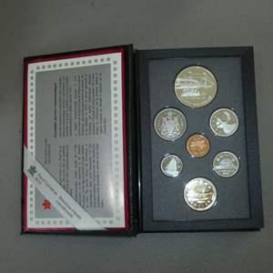 Lot # 43 -1991 - Royal Canadian Mint - 7 pc Proof Set w/ Silver Dollar