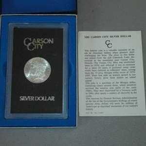 Lot # 47 - 1883 - US Mint - Carson City Morgan Silver Dollar - Uncirculated w/ Case - Rare