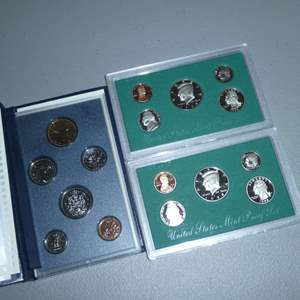 Lot # 48 - Two United States Mint Proofs Sets & 1995 Royal Canadian Mint (See Full Description)