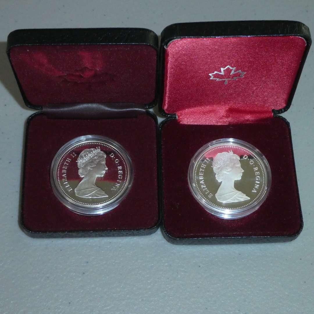 Lot # 52 - 1989 - Royal Canadian Mint - Silver Dollar Proof - Flueve MacKenzie River, 1982 - Royal Canadian Mint - Silver Dollar (main image)