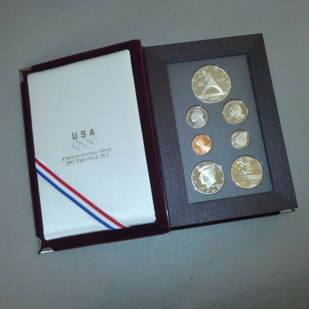 Lot # 62  - 1992 - United States Mint Olympic Coins - Prestige Set (main image)