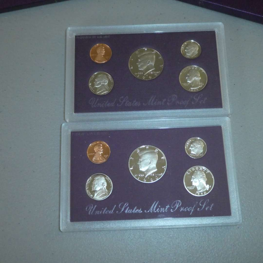Lot # 65 - 1990 & 1992 United States Mint Proof Sets  (main image)