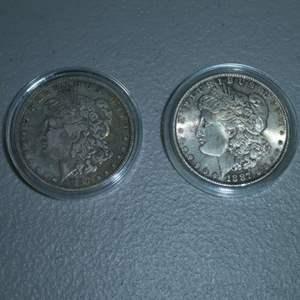 Lot # 68 - 1887 and 1887-O,  US Mint Morgan Silver Dollars
