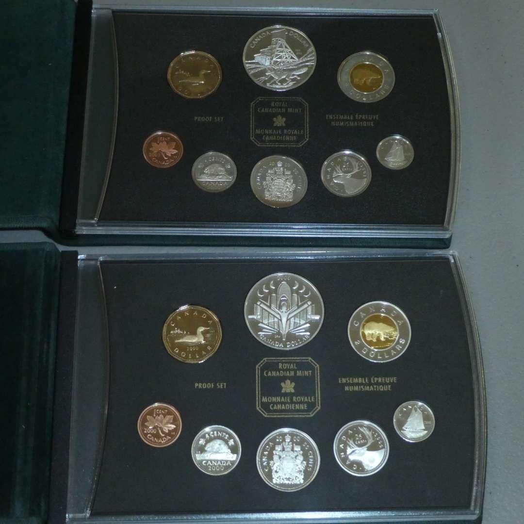 Lot # 49 - 2003 & 2000 Royal Canadian Mint Ensemble Proof Set (8 PCS Each) (main image)