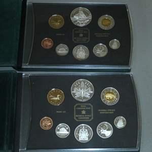 Lot # 49 - 2003 & 2000 Royal Canadian Mint Ensemble Proof Set (8 PCS Each)