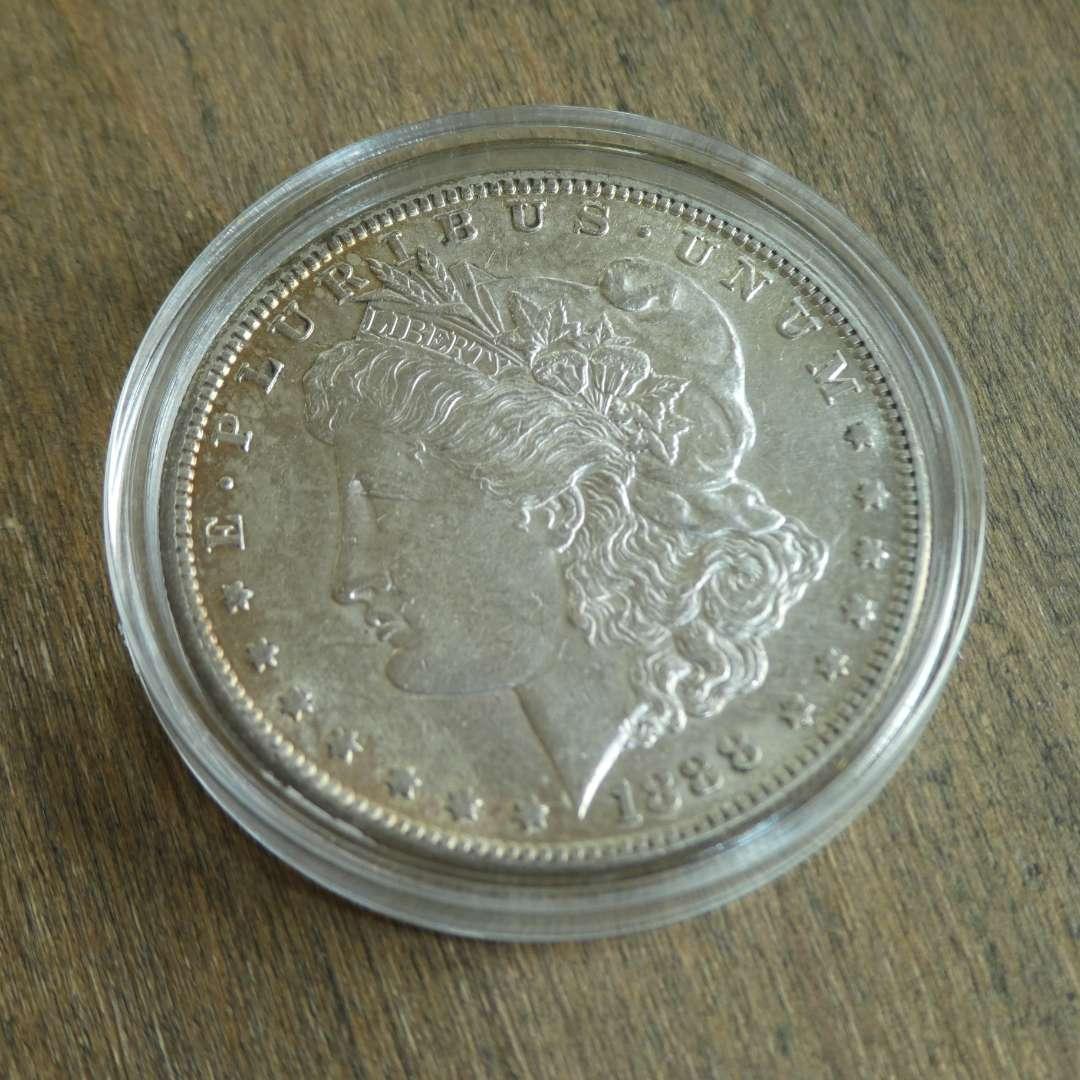 Lot # 70 -1888-S, US Morgan Silver Dollar - Very Rare (main image)