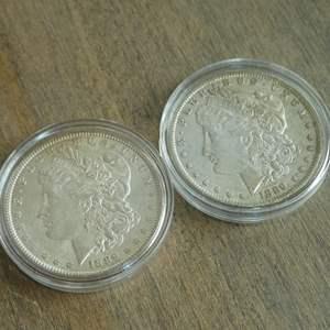 Auction Thumbnail for: Lot # 71 -1889 and 1889-O Morgan Silver Dollars