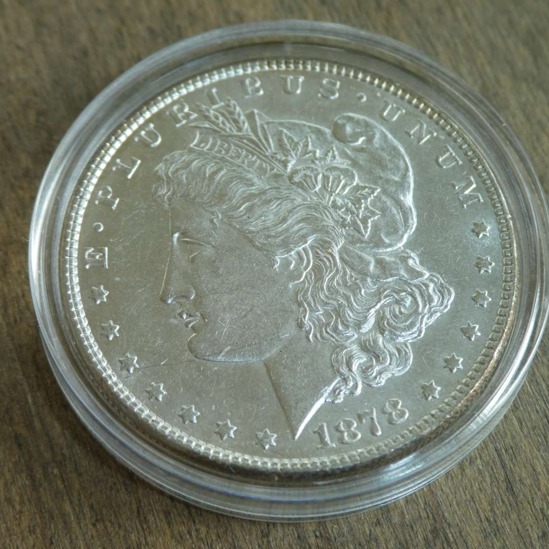 Lot # 74 - 1878 Morgan Silver Dollar - 7 Over 8 Tail Feathers (main image)