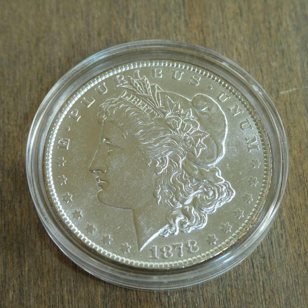 Lot # 75 - 1878 Morgan Silver Dollar - 7 Tail Feathers  (main image)
