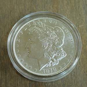 Lot # 75 - 1878 Morgan Silver Dollar - 7 Tail Feathers