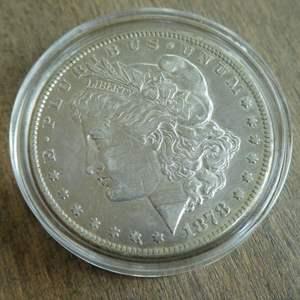 Lot # 76 - 1878-CC Morgan Silver Dollar - Very Rare (very fine)