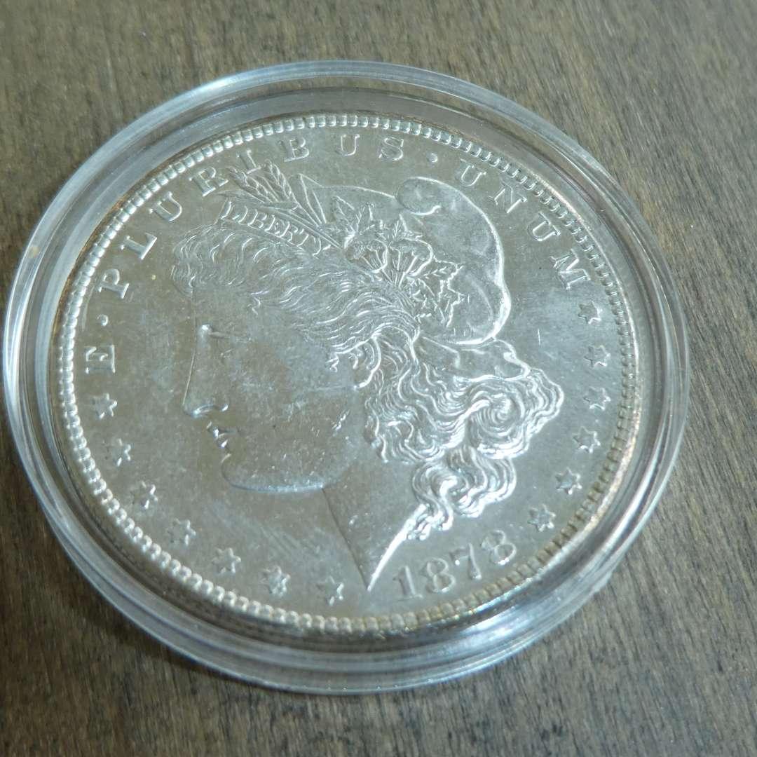 Lot # 77 - 1878-S Morgan Silver Dollar  (main image)