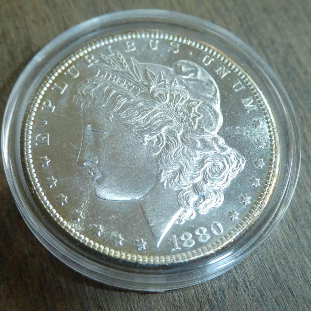 Lot # 83 - 1880-S Morgan Silver Dollar  (main image)