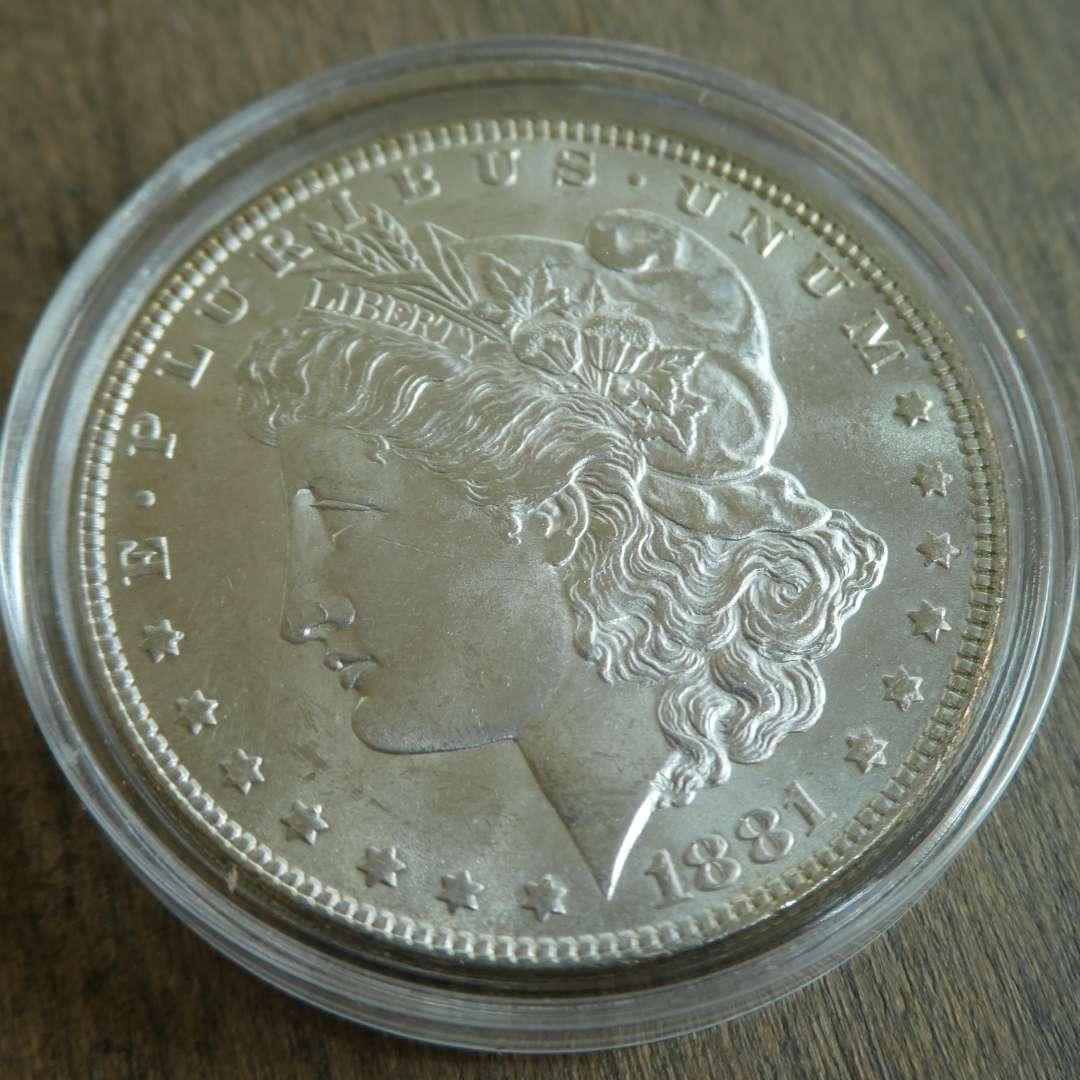 Lot # 84 - 1881 Morgan Silver Dollar  (main image)