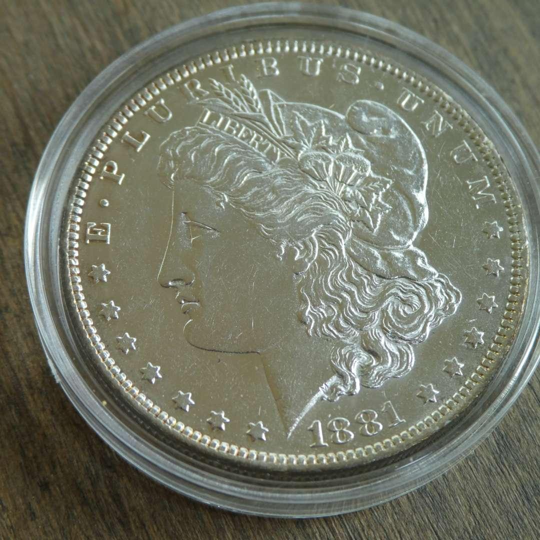 Lot # 85 - 1881-O Morgan Silver Dollar  (main image)
