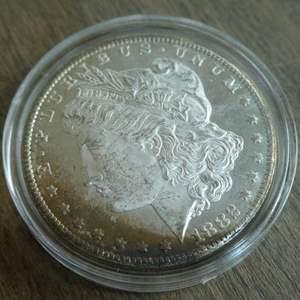Lot # 88 - 1882-CC Morgan Silver Dollar (AU) - very rare