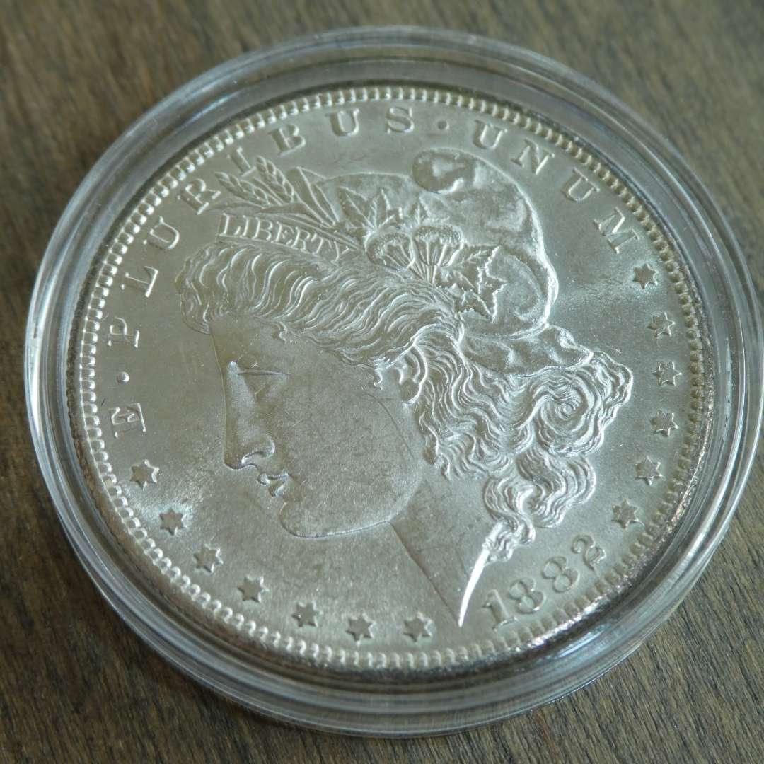 Lot # 90 - 1882-S Morgan Silver Dollar  (main image)