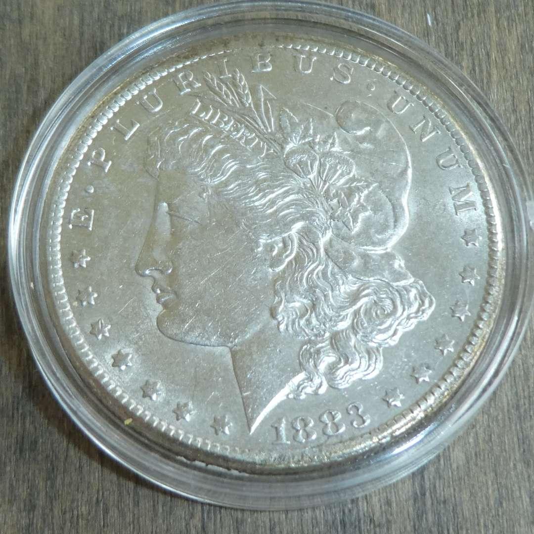 Lot # 92 - 1883-CC Carson City Morgan Silver Dollar - Very Rare (main image)