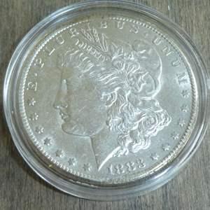 Lot # 92 - 1883-CC Carson City Morgan Silver Dollar - Very Rare