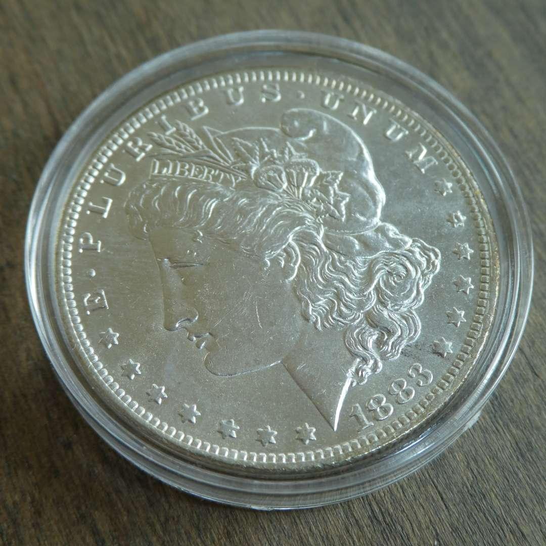 Lot # 93 -1883-O Morgan Silver Dollar  (main image)