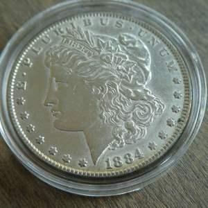 Lot # 95 - 1884 Morgan Silver Dollar