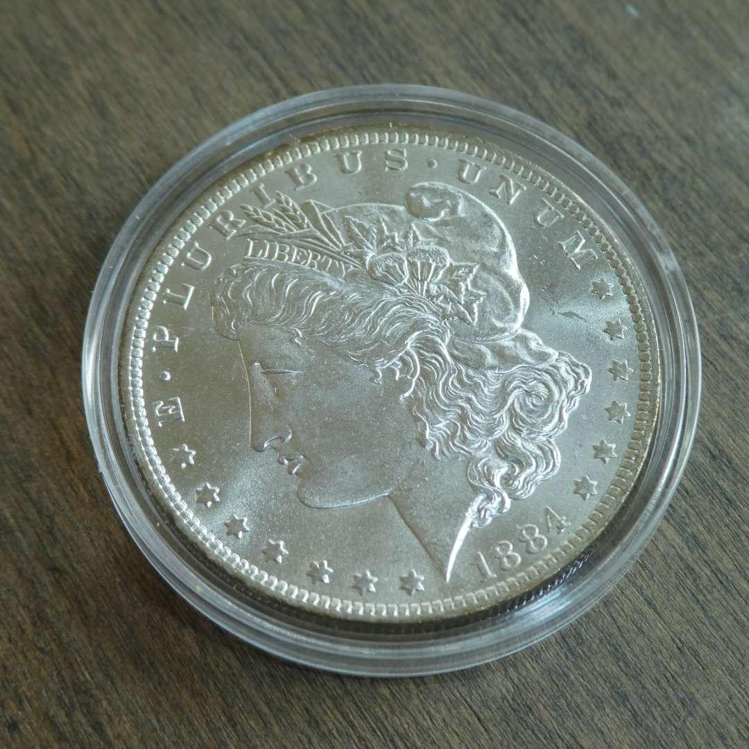 Lot # 96 - 1884-O Morgan Silver Dollar  (main image)