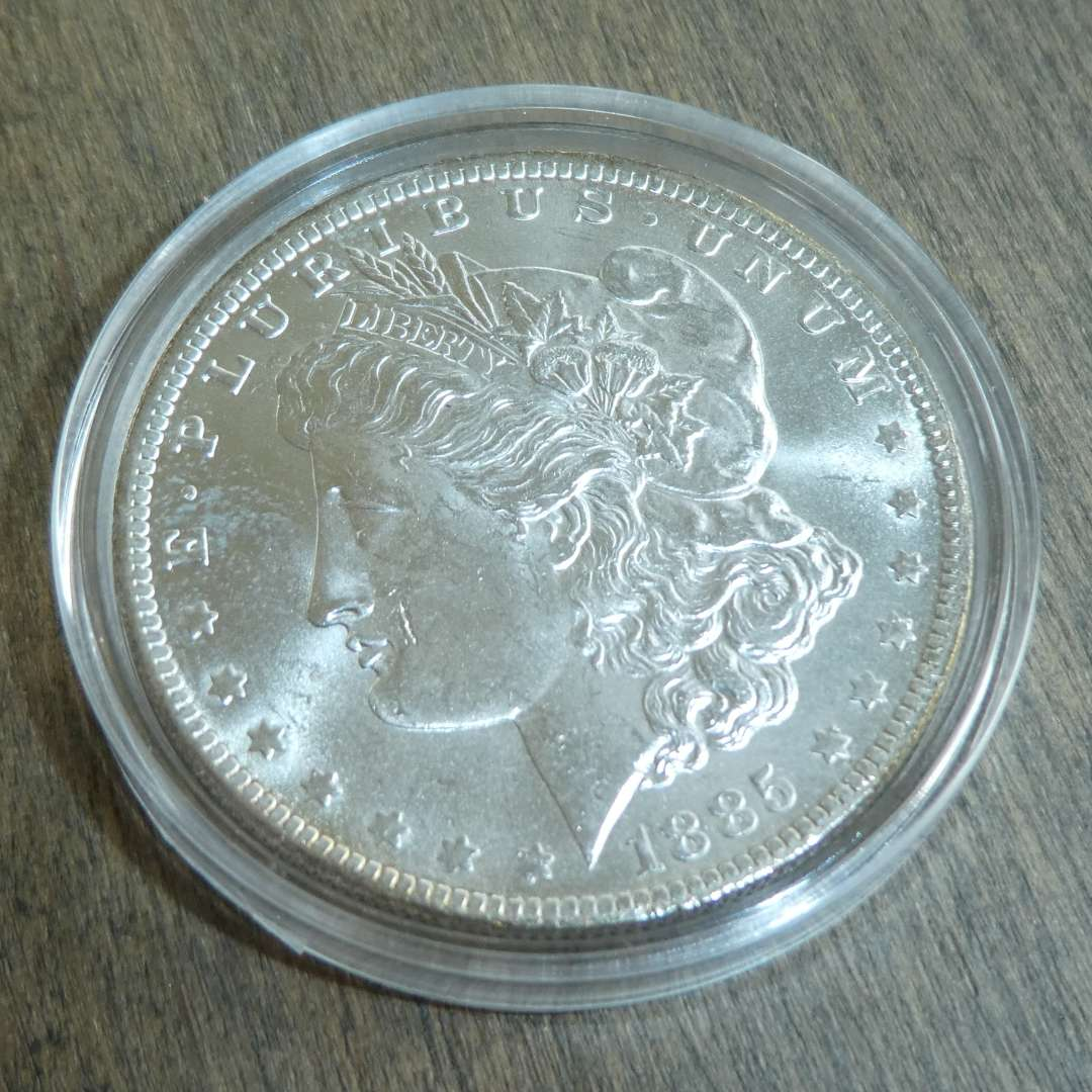 Lot # 99 - 1885-O Morgan Silver Dollar  (main image)
