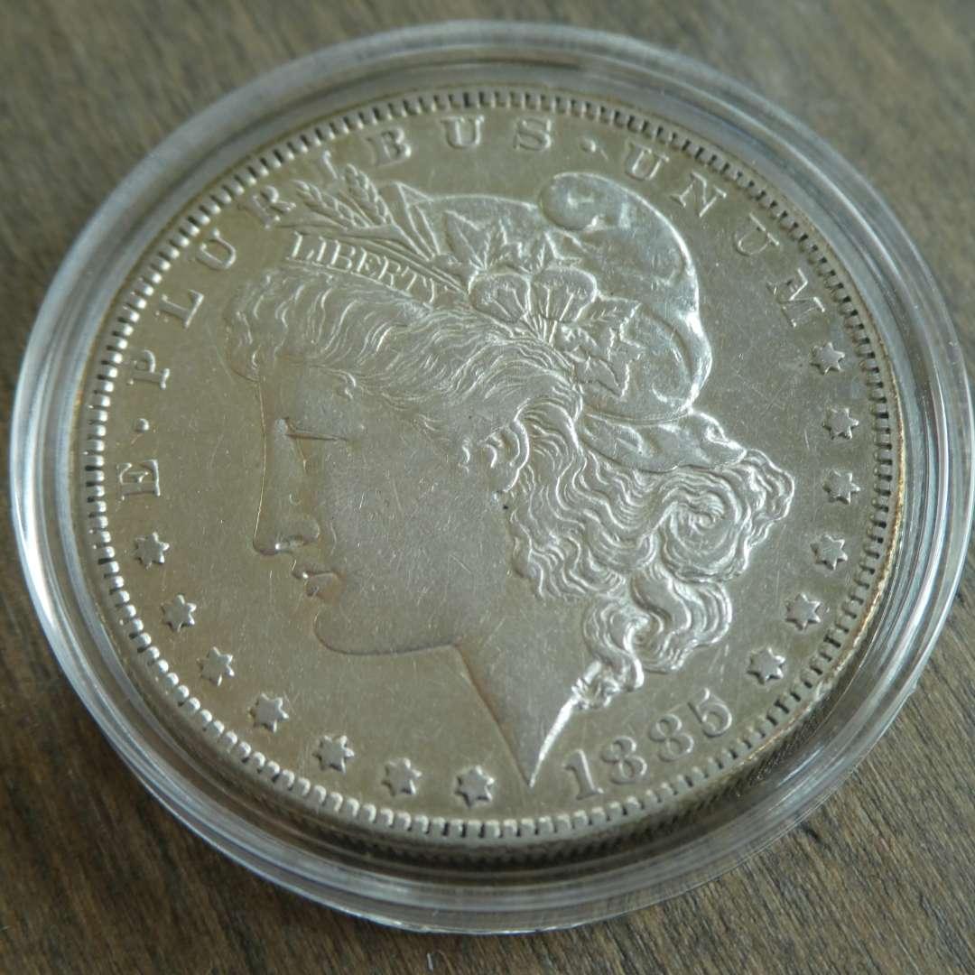 Lot # 100 - 1885-S Morgan Silver Dollar  (main image)
