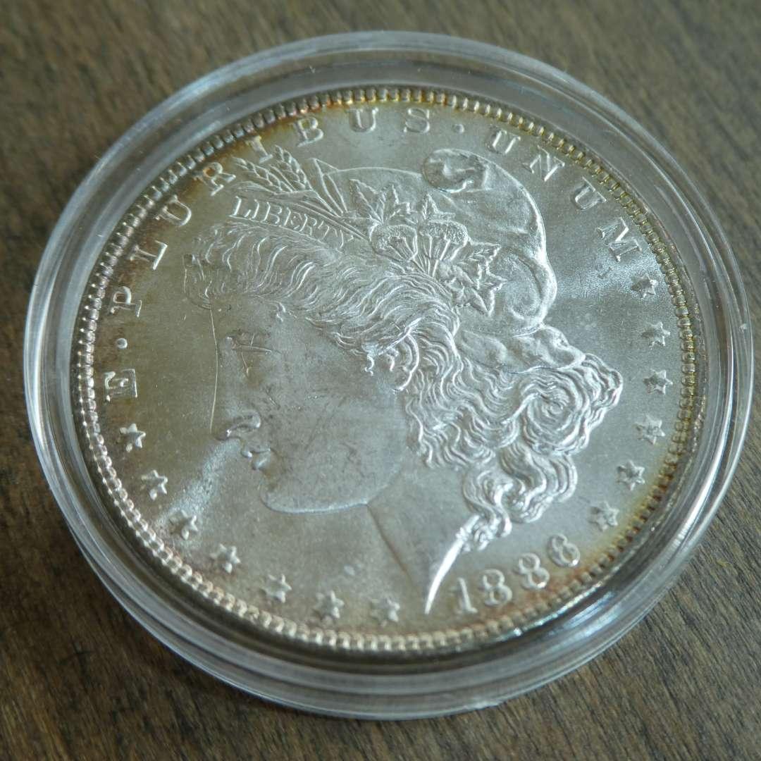 Lot # 101 - 1886 Morgan Silver Dollar  (main image)