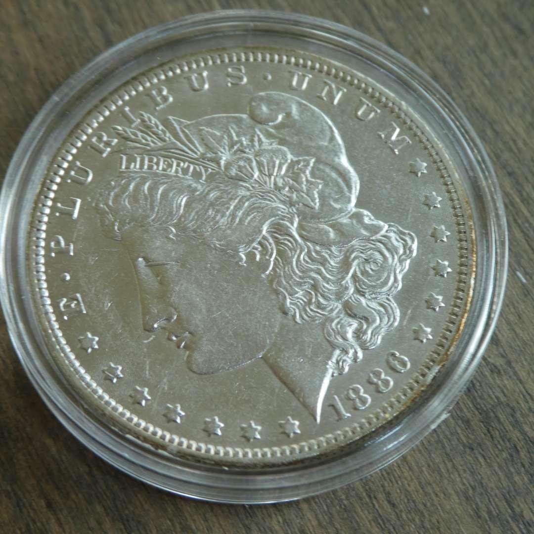 Lot # 102 - 1886-O Morgan Silver Dollar  (main image)