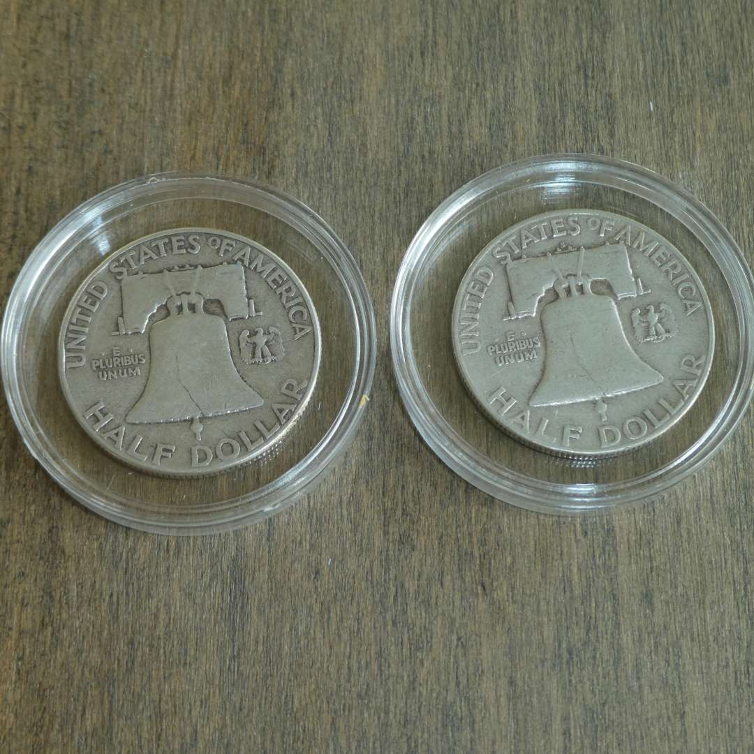 Lot # 104 - 1950 and 1951-S Franklin Silver Half Dollars (main image)