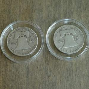 Lot # 104 - 1950 and 1951-S Franklin Silver Half Dollars