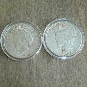 Lot # 108 - 1922 and 1922-S Liberty Peace Silver Dollars