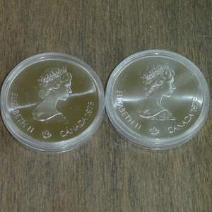 Lot # 110 -1975 Royal Canadian Mint - 5 Dollar Silver Olympia Coin - Montreal (1976) - 2 coins - Proof