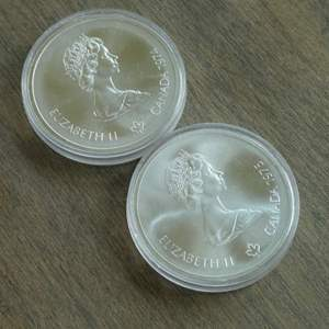 Lot # 111 - 1974 and 1975 Royal Canadian Mint - 10 Dollar Silver Olympia Coin - Montreal (1976) - 2 coins - Proof