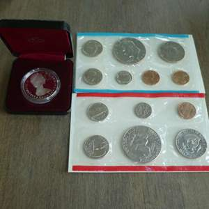 Lot # 118 - 1974, 1974-D US Mint - Uncirculated Coin Set with Dollar,1985 Royal Canadian Mint - Silver Dollar Proof (1)