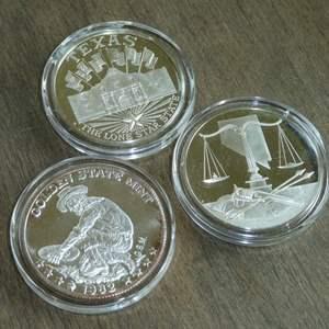 Lot # 119 - Silver Coins - Texas, California, Nevada