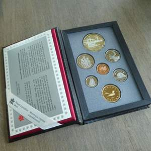 Lot # 124 - 1991 - Royal Canadian Mint - 7 pc Proof Set w/ Silver Dollar