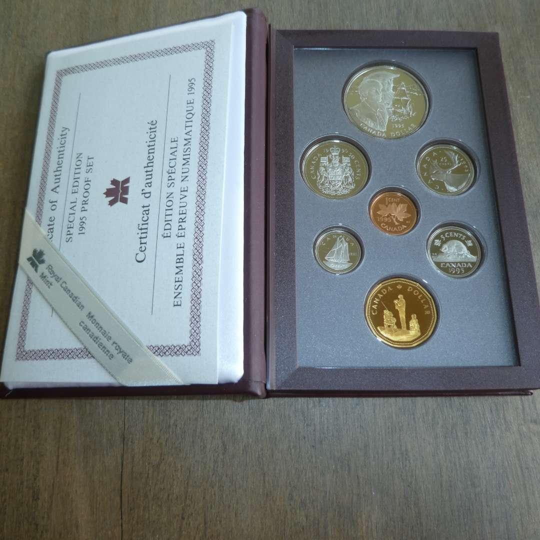 Lot # 125 - 1995 - Royal Canadian Mint - 7 pc Proof Set w/ Silver Dollar- Spec Edit. (main image)