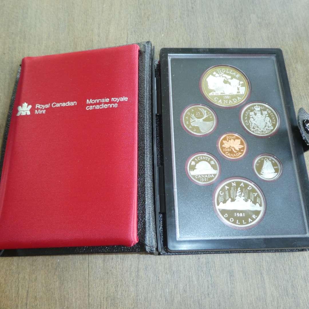 Lot # 127 - 1981 - Royal Canadian Mint - 7 pc Proof Set w/ Silver Dollar (main image)