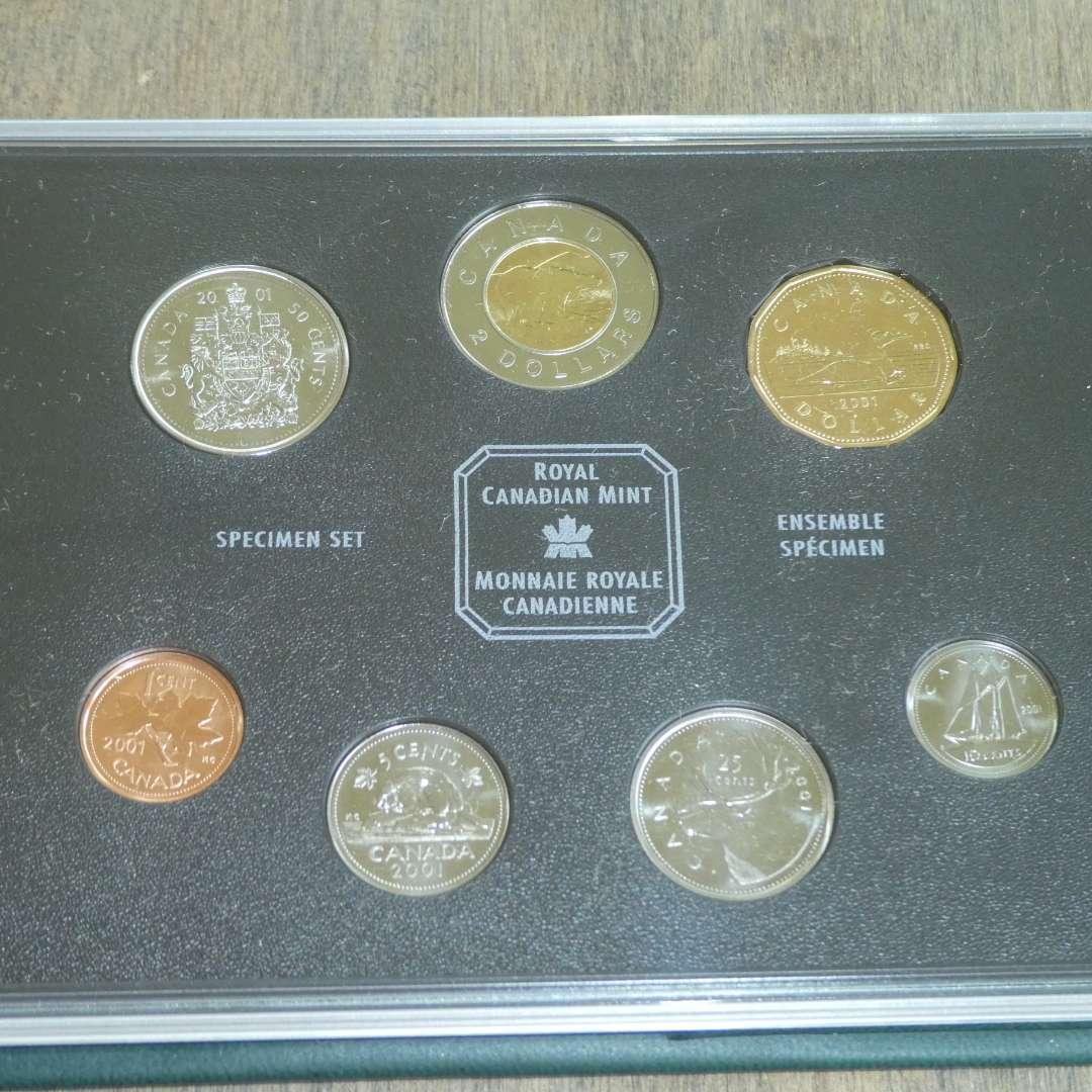 Lot # 134 - 2001 - Royal Canadian Mint - Specimen Set (6 pc) of Canadian Coinage (main image)