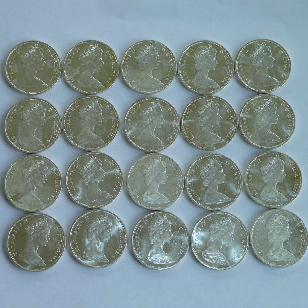 Lot # 135 - 1965 Canadian Silver Dollars, Uncirculated (20 count) (main image)