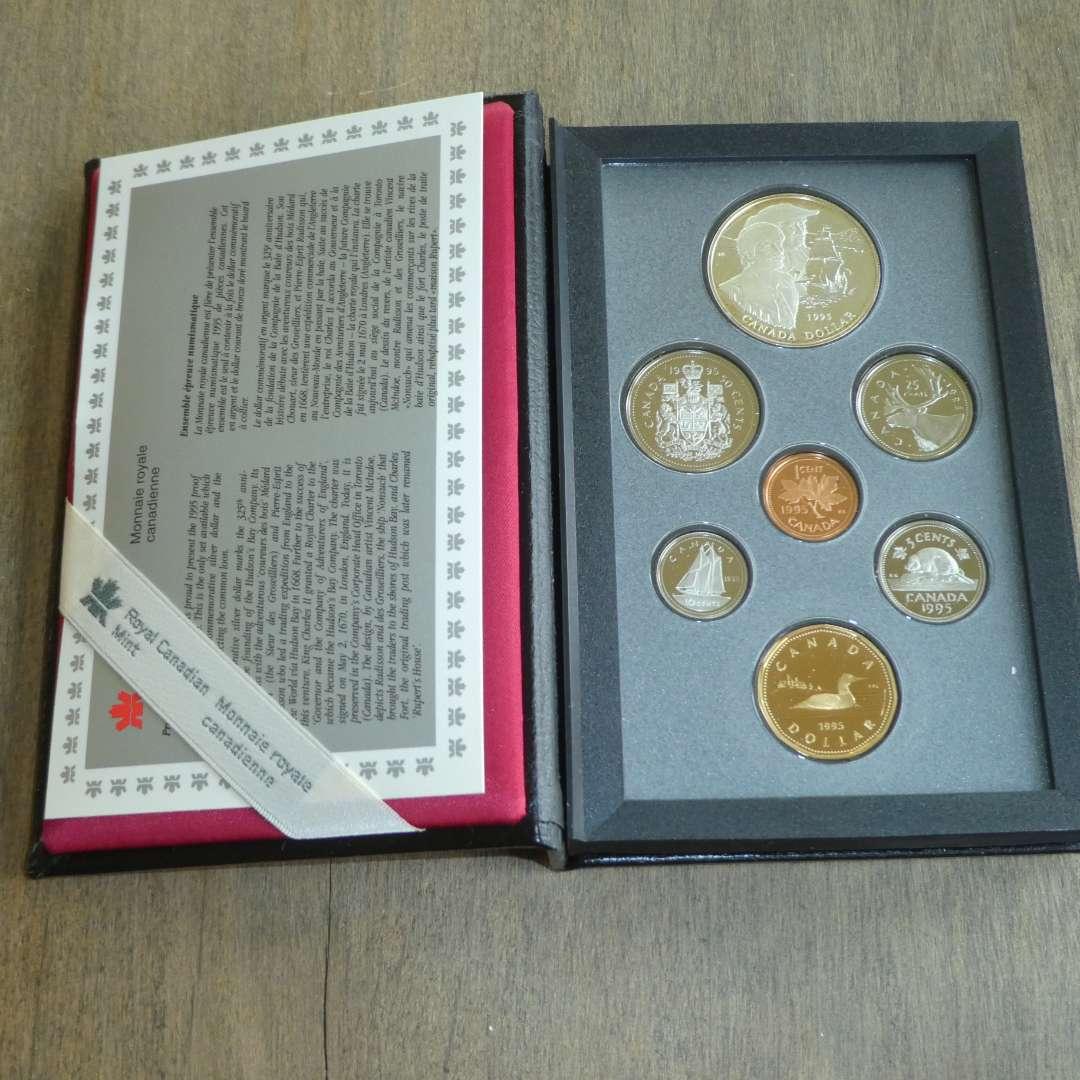 Lot # 143 - 1995 - Royal Canadian Mint - 7 pc Proof Set w/ Silver Dollar (main image)